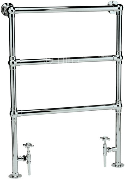 Additional image for Cambridge Heated Towel Rail (Chrome). 676x966mm.