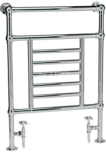 Additional image for Dorchester Heated Towel Rail (Chrome). 675x965mm.
