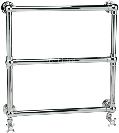 Additional image for Cotswold Heated Towel Rail (Chrome). 685x685mm.