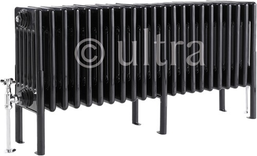 Additional image for 6 Column Radiator With Legs (Black). 1011x480x220mm.