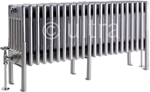 Additional image for 6 Column Radiator With Legs (Silver). 1011x480x220mm.