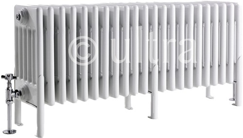 Additional image for 6 Column Radiator With Legs (White). 1011x480x220mm.