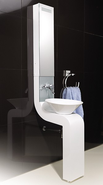 Additional image for Vanity Unit With Cabinet, Basin & Faucet (White).  250x2010mm.