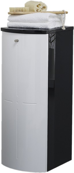 Additional image for Wall Storage Cabinet (Black & White).  300x800mm.