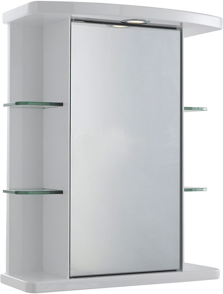 Additional image for Congress Mirror Cabinet, Light & Shaver. 530x670x255mm.