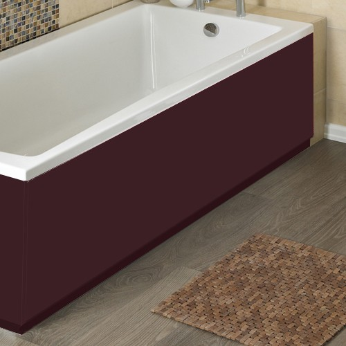 Additional image for 1400mm Side Bath Panel (Memoir Burgundy, MDF).