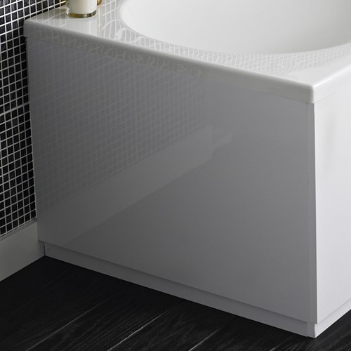 Additional image for 800mm End Bath Panel (White, MDF).