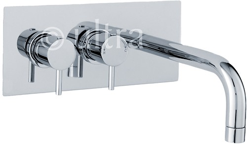 Additional image for Wall Mounted Thermostatic Bath Filler Faucet (Chrome).
