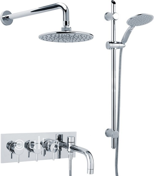 Additional image for Thermostatic Bath Filler Faucet, Slide Rail Kit, Shower Head & Diverter.