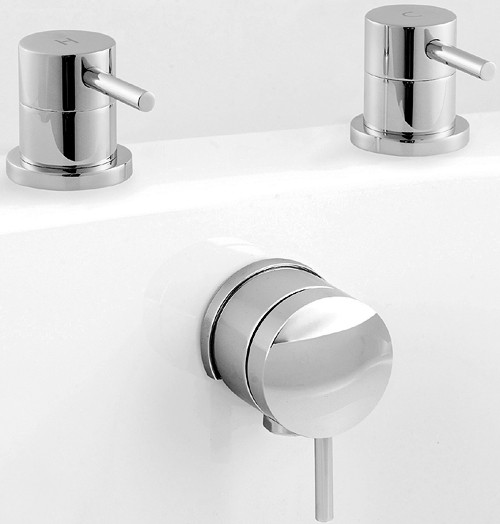 Additional image for Freeflow Bath Filler With Pop Up Waste (Chrome).