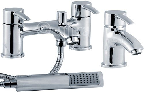 Additional image for Basin & Bath Shower Mixer Faucet Set (Free Shower Kit).