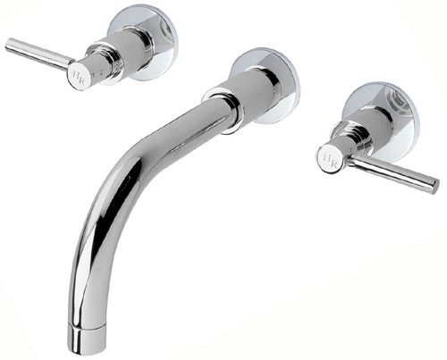 Additional image for 3 Faucet Hole Wall Mounted Bath Faucet With Lever Handles.