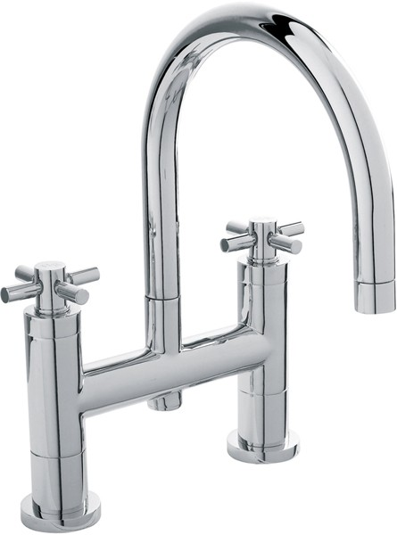 Additional image for Bath Filler Faucet With Large Swivel Spout & Cross Handles.