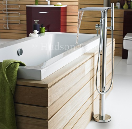 Additional image for Waterfall freestanding Bath Shower Mixer Faucet.