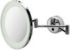 Geesa Hotel Swing arm Mirror with light. 240mm round.