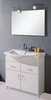 Lucy Muros 800mm white vanity unit with one piece ceramic basin.