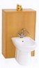 daVinci Monte Carlo complete back to wall bidet set in beech.