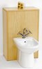 daVinci Monte Carlo complete back to wall bidet set in maple.