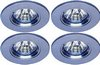 Lights 4 x Low voltage chrome halogen downlighter with lamps & transformers.